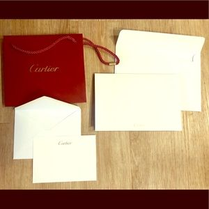 Cartier Bag and cards